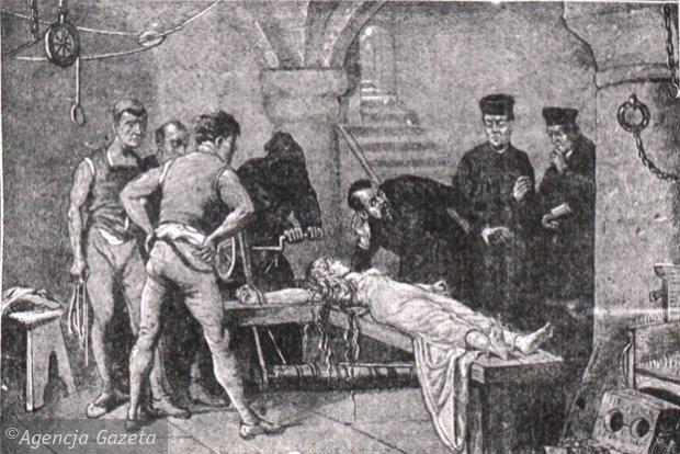 Tortury oskarżonej o czary (Fot. Rycina ze zbiorów Archiwum Państwowego w Poznaniu)
